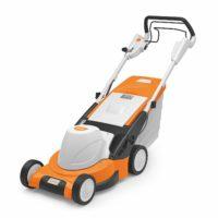 Stihl Elektro Rasenmäher RME 545 V auf weißen Hintergrund